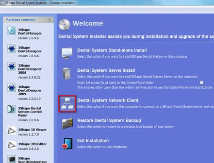 3Shape DS client installation on New PC