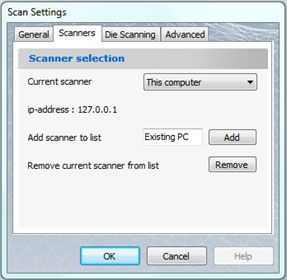 scan settings