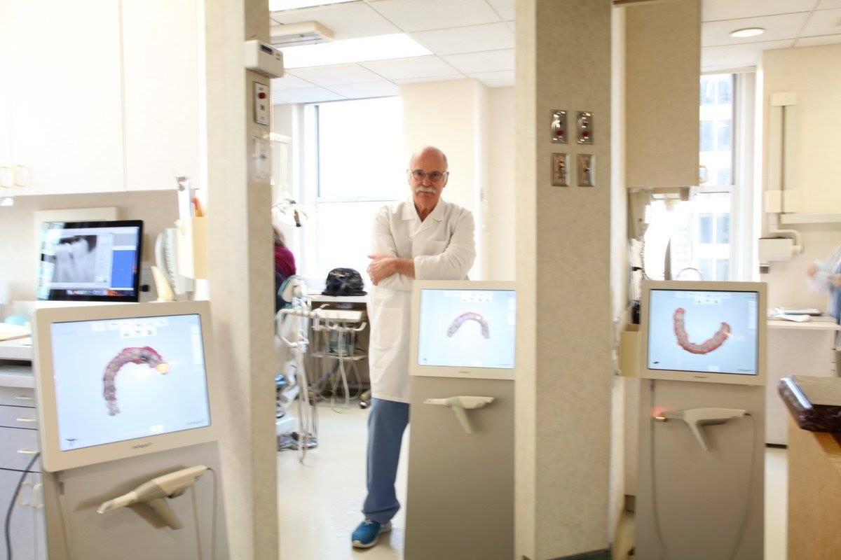 Dr. Ferencz in his dental clinic