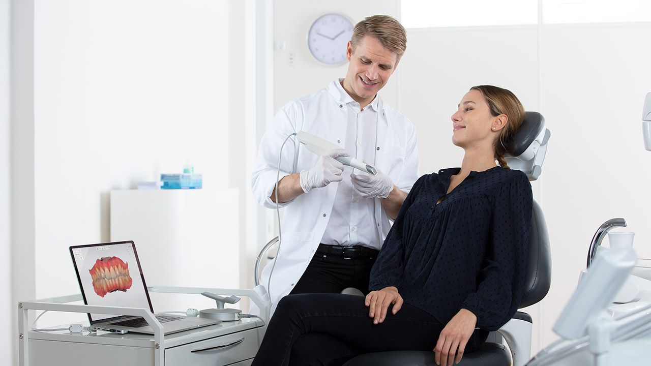 TRIOS-Einsatz in Zahnarztpraxis