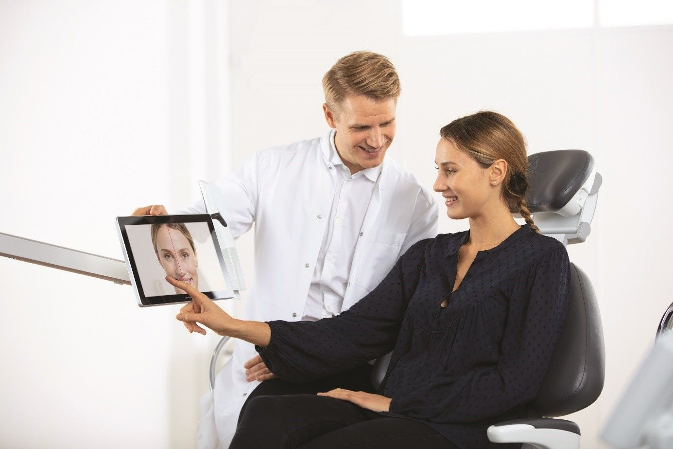 TRIOS scanner and 3Shape software in dental clinic